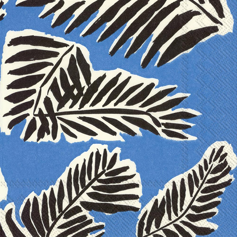 Boston International, Babassu Cocktail Napkins, Blue, - Placewares