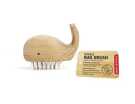 Kikkerland, Wooden Whale Nail Brush, - Placewares