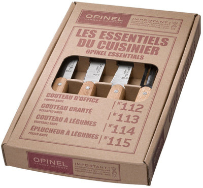 Opinel, Opinel Essentials Small Kitchen Knives - set/4, - Placewares