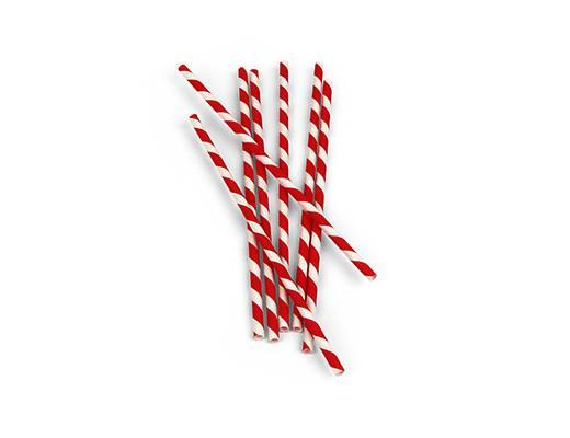 Kikkerland, Paper Straws - Red, Red- Placewares