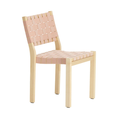 Artek, Chair 611, Natural/Red / Natural lacquered- Placewares