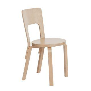 Artek, Chair 66, Natural/Beech / Natural - Legs, seat edge-band and backrest: birch, clear lacquer- Placewares