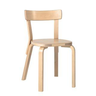 Artek, Chair 69, Legs: birch, clear lacquer Seat and backrest: birch, clear lacquer- Placewares