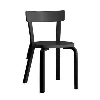 Artek, Chair 69, Legs: birch, black lacquer Seat and backrest: birch, black lacquer- Placewares