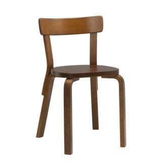 Artek, Chair 69, Legs: birch, walnut stain Seat and backrest: birch, walnut stain- Placewares