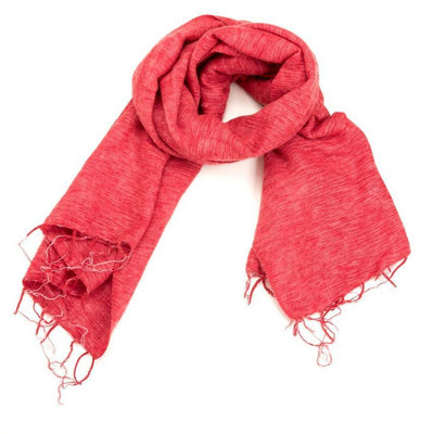 Zig Zag, Brushed Wool Wrap/Shawl/Scarf - multiple colors, Cherry Red- Placewares