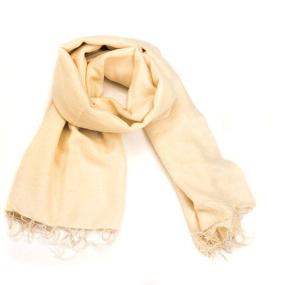 Zig Zag, Brushed Wool Wrap/Shawl/Scarf - multiple colors, Cream- Placewares