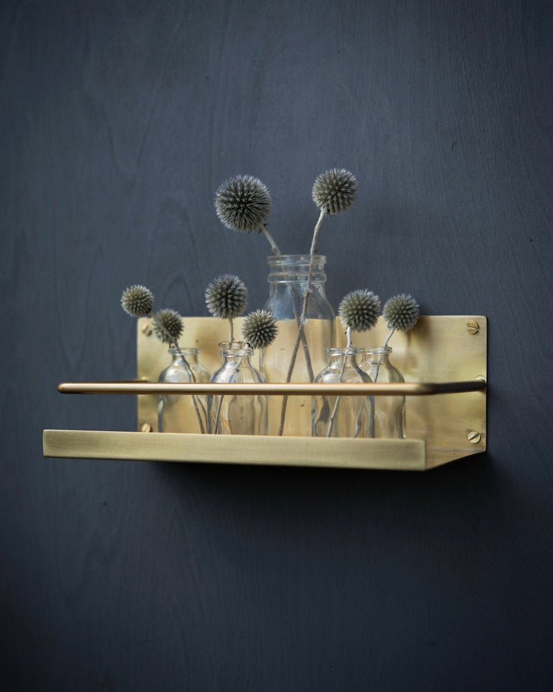 Fog Linen, Handmade Brass Shelf, One-Size- Placewares