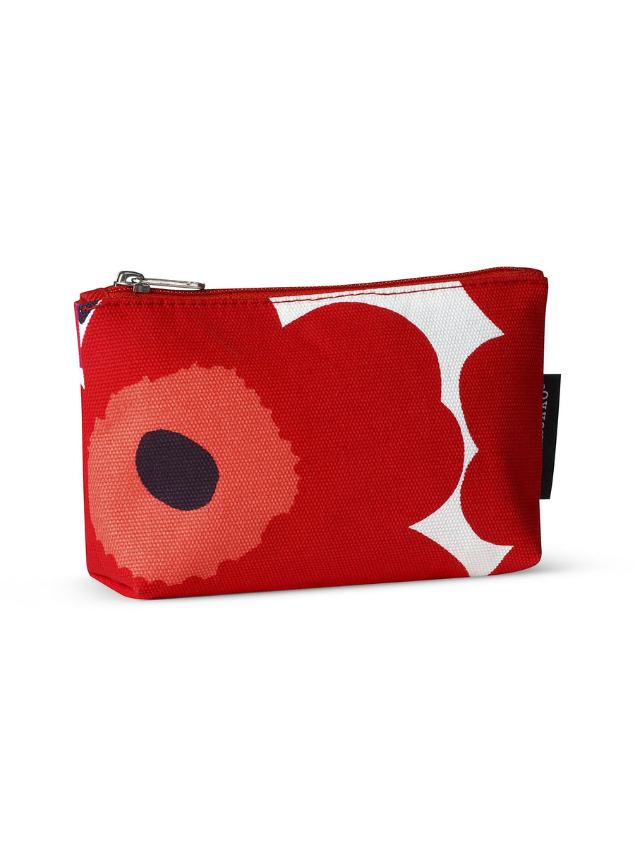 Marimekko, Eevi Pieni Unikko Cosmetic Bag, White/Red- Placewares