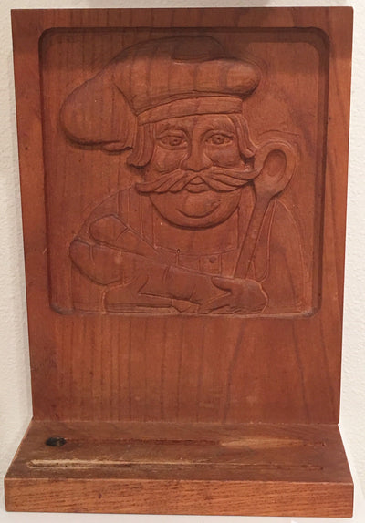Vintage @ Placewares, Evelyn Ackerman Decorative Wall Carving, Vintage 1960s, Chef Knife Stand- Placewares