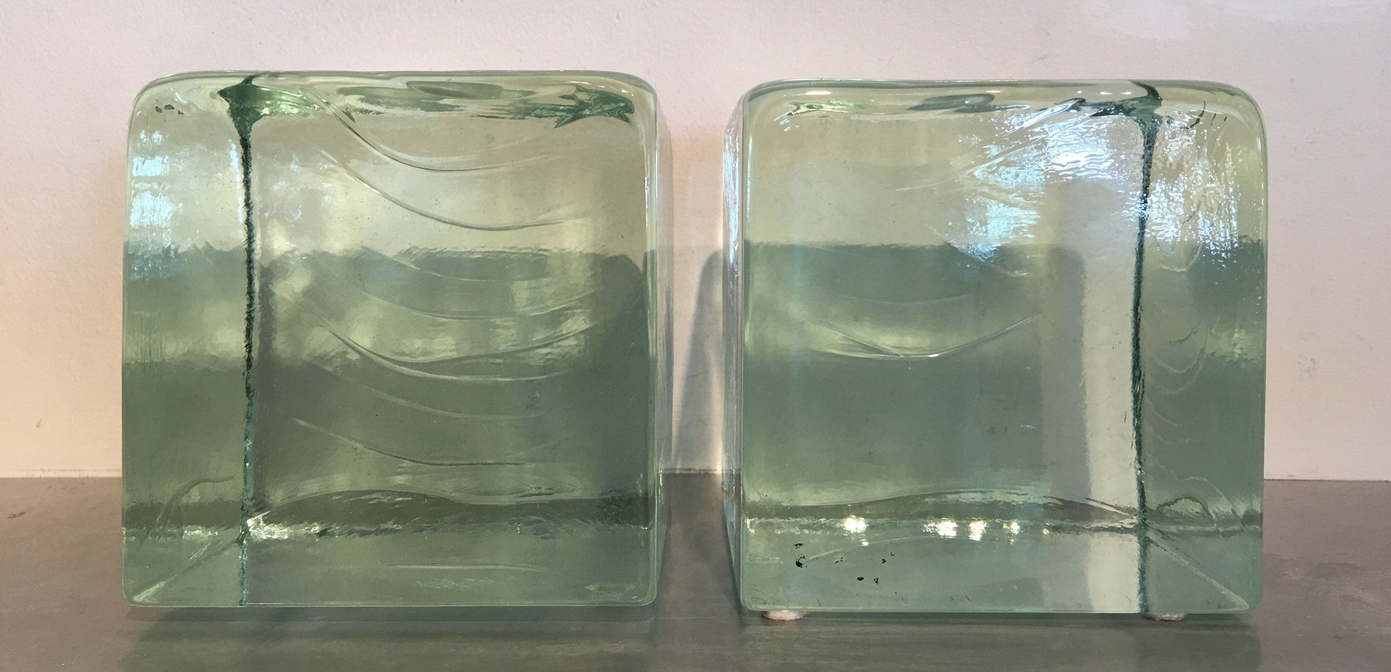 Vintage @ Placewares, Blenko Vintage Glass 1960s Bookends - Set of 2 - Block, - Placewares