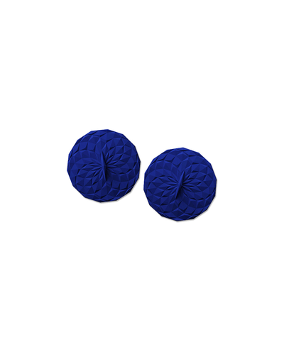 GIR: Get It Right, 4-Inch Round Suction Lids, Set of 2, assorted colors, Navy- Placewares
