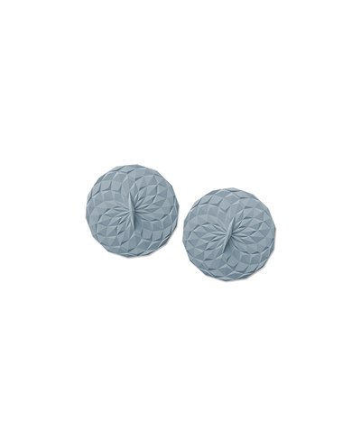 GIR: Get It Right, 4-Inch Round Suction Lids, Set of 2, assorted colors, Slate- Placewares