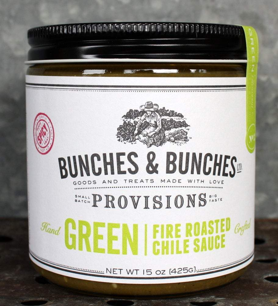 Bunches & Bunches, Fire-Roasted Green Chile Sauce, - Placewares