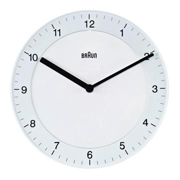 Ameico, Braun Wall Clock - Large, White- Placewares