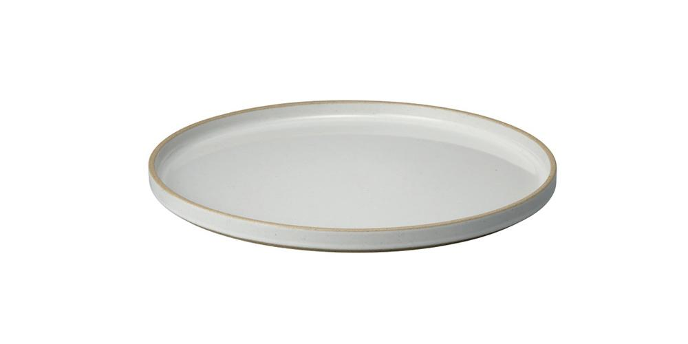 Hasami Porcelain, Plate, Large - Gloss Gray, Gloss Gray- Placewares
