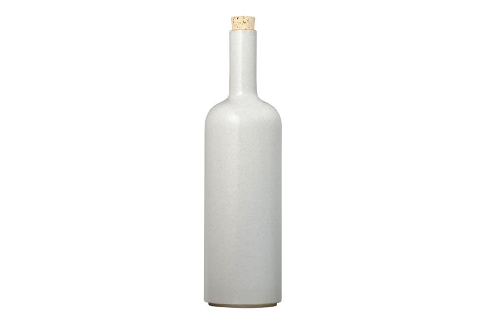 Hasami Porcelain, Bottle - Gloss Gray, - Placewares