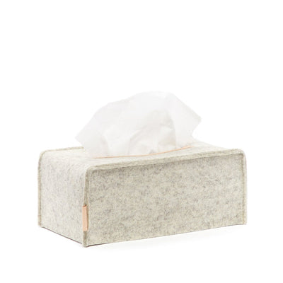 Graf Lantz, Tissue Box Cover Large, Heather White- Placewares