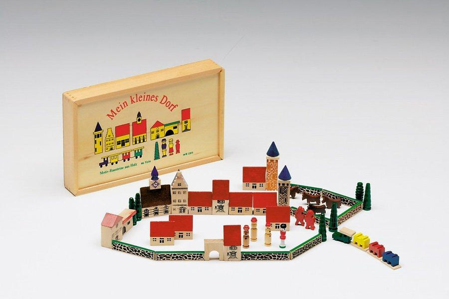Mein Kleines Dorf, My Little Village Wooden Toy Set, - Placewares