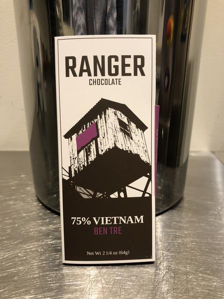 Ranger Chocolate, Ben Tre Chocolate Bar, 75% Vietnam, - Placewares