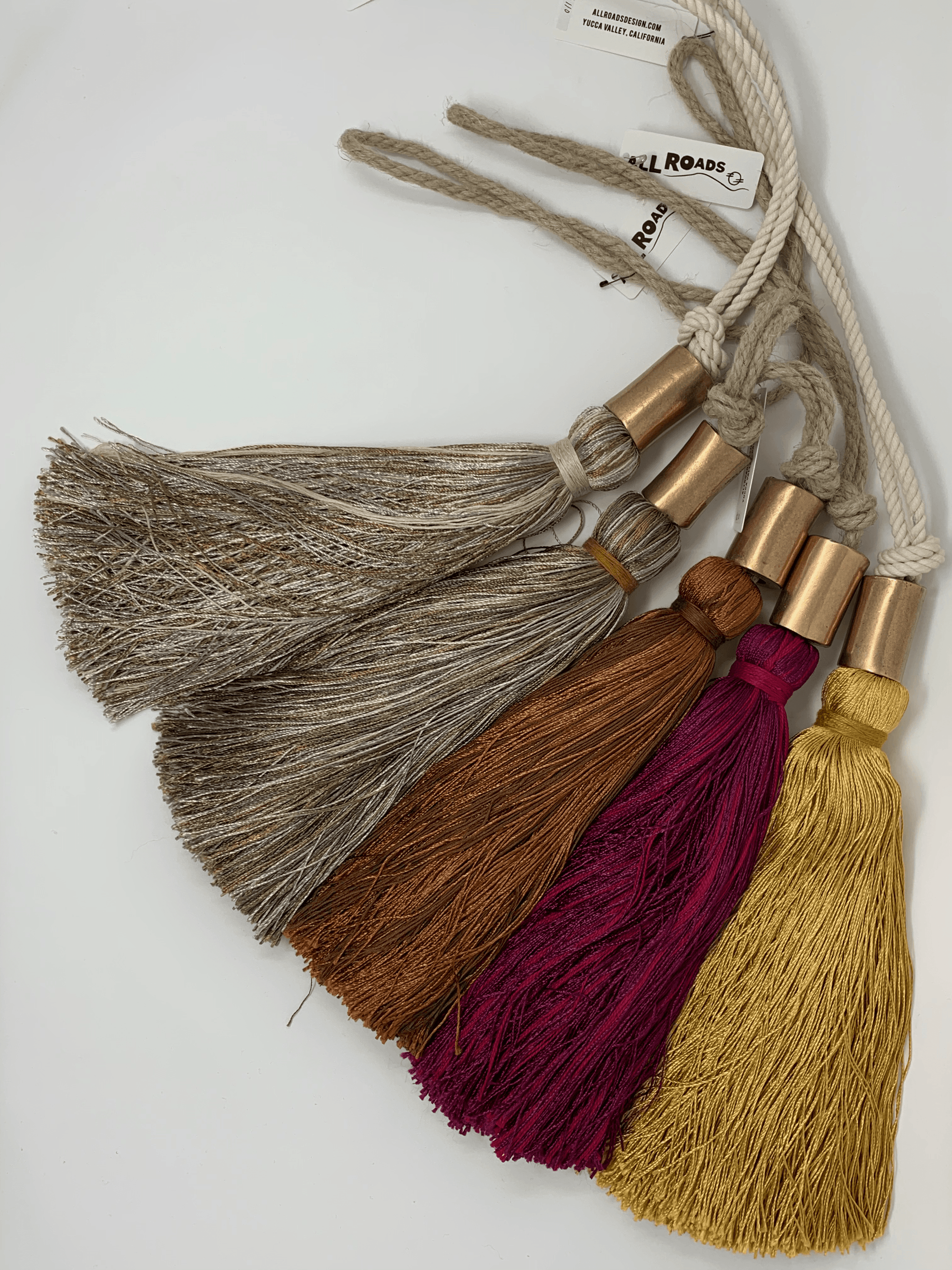 ALL ROADS, All Roads Bronze Bead Tassels, - Placewares