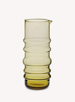 "Marimekko, Sukat Makkaralla ""Socks Rolled Down"" Glass Pitcher, Tan- Placewares"