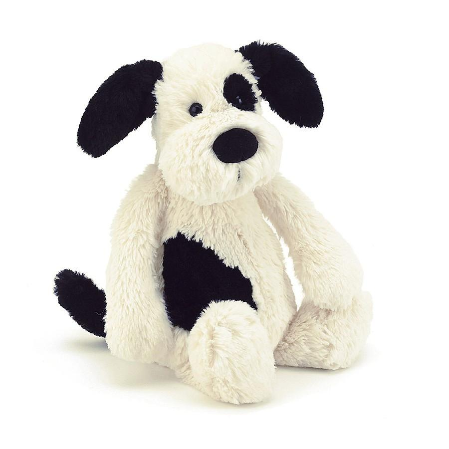 Jellycat, Bashful Black & Cream Puppy, - Placewares