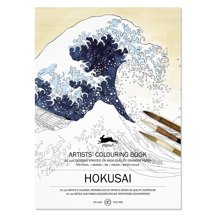 Pepin, Hokusai Coloring Book, - Placewares
