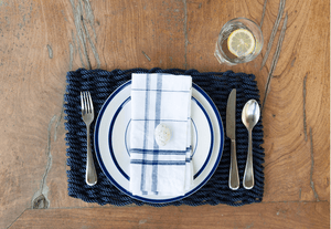 The Rope Co., Nautical Rope Placemats, Navy, - Placewares