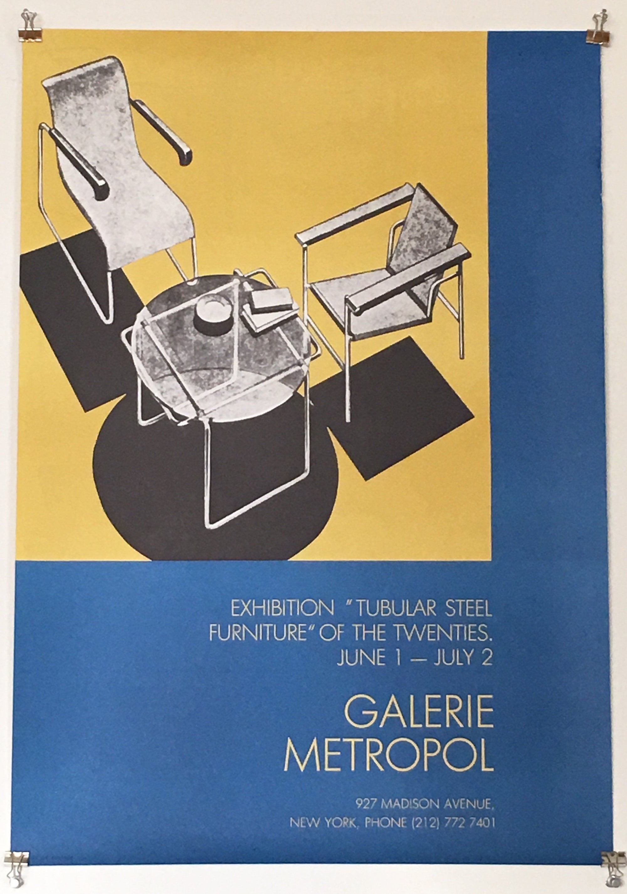 "Vintage @ Placewares, Galerie Metropol Exhibition ""Tubular Steel Furniture"" of the Twenties Poster, - Placewares"