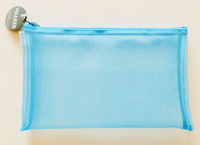Walker, Walker Color Mesh Bag, Single Zipper - 6 x 10 in, 6 X 10 / Aqua- Placewares
