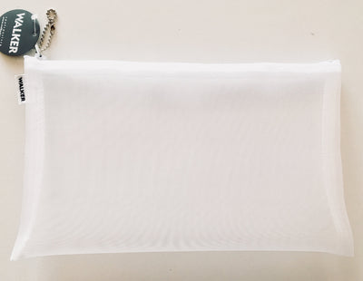 Walker, Walker Color Mesh Bag, Single Zipper - 6 x 10 in, 6 X 10 / White- Placewares