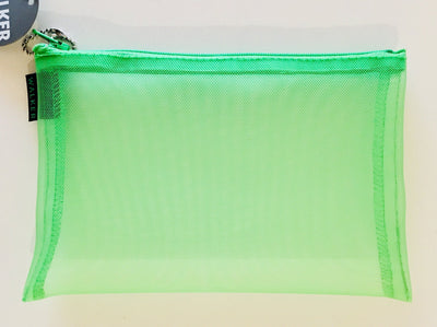 Walker, Walker Color Mesh Bag, Single Zipper - 5 x 7 in, 5 x 7 / Green- Placewares