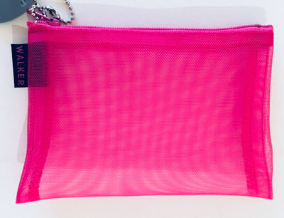 Walker, Walker Color Mesh Bag, Single Zipper - 3 1/2 x 5 in, 3 ½ x 5 / Fuchsia- Placewares