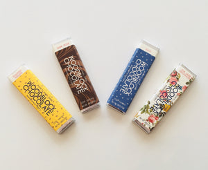 Woodblock Chocolate Manufactory, Floral Chocolate Bar, - Placewares