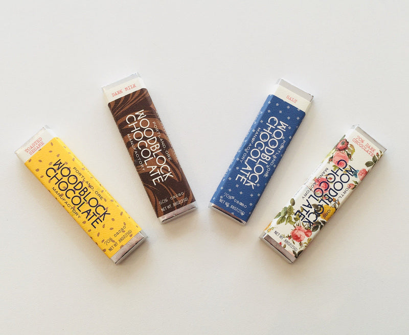 Woodblock Chocolate Manufactory, Toasted Sesame Chocolate Bar, - Placewares