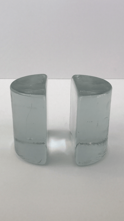 Vintage @ Placewares, Blenko Vintage Glass 1960s Bookends - Cylinder, - Placewares