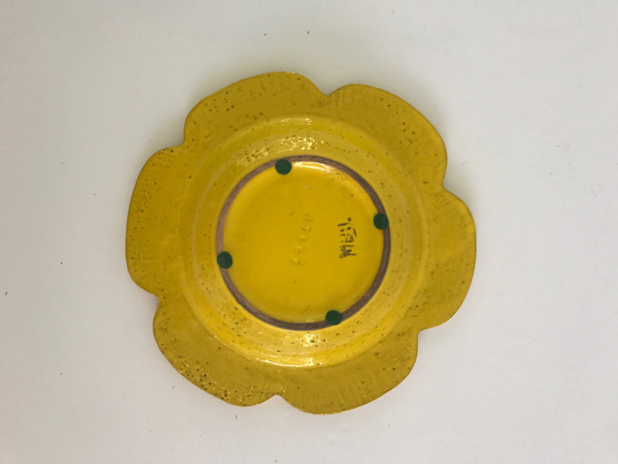 Vintage @ Placewares, Aldo Londi for Bitossi Yellow Ceramic Flower Ashtray, - Placewares