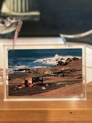 Vintage @ Placewares, Vintage The Sea Ranch Lodge Postcard, 1960s - In Italian Magnetic Frame, - Placewares