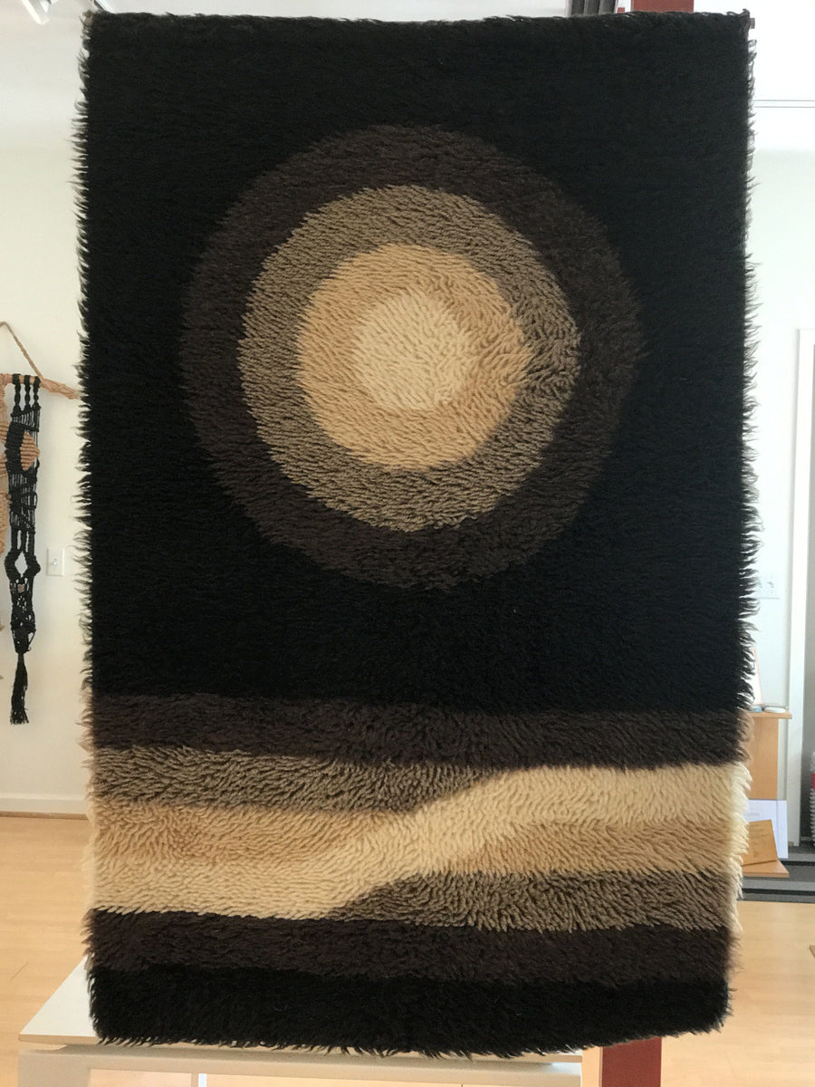 Vintage @ Placewares, 1950's Danish Woven Wall Hanging or Area Rug, - Placewares