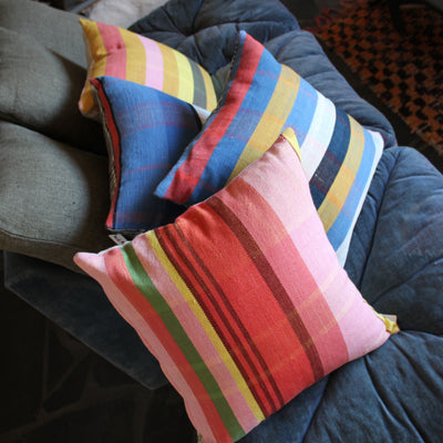 ALL ROADS, All Roads Pillow - Ristra Plaid, - Placewares