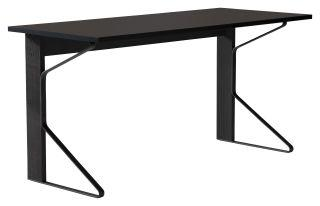 "Artek, Kaari Desk, 59 x 25 ½"" / Top: linoleum, black Top edge-band: ABS, black / Legs: oak, black lacquer Braces: steel, black powder coating- Placewares"