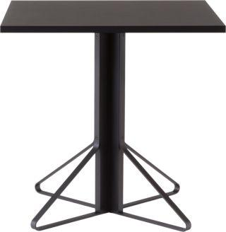 "Artek, Kaari Table Square, 29 ½ x 29 ½"" / Black - Top: linoleum, black Top edge-band: ABS, black / Legs: oak, black lacquer Braces: steel, black powder coating- Placewares"