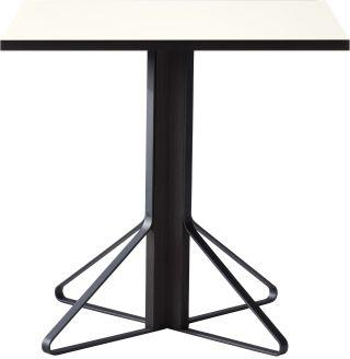 "Artek, Kaari Table Square, 29 ½ x 29 ½"" / White - Top: HPL, white high-gloss Top edge-band: ABS, black / Legs: oak, black lacquer Braces: steel, black powder coating- Placewares"