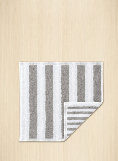 Marimekko, Kaksi Raitaa Mini Towel/Washcloth, Grey/White- Placewares