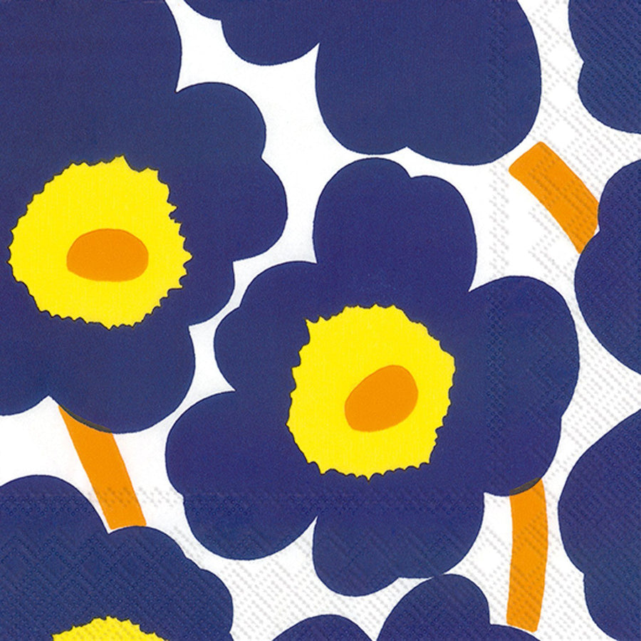 Marimekko, Marimekko - Unikko Dark Blue Lunch Napkins, - Placewares