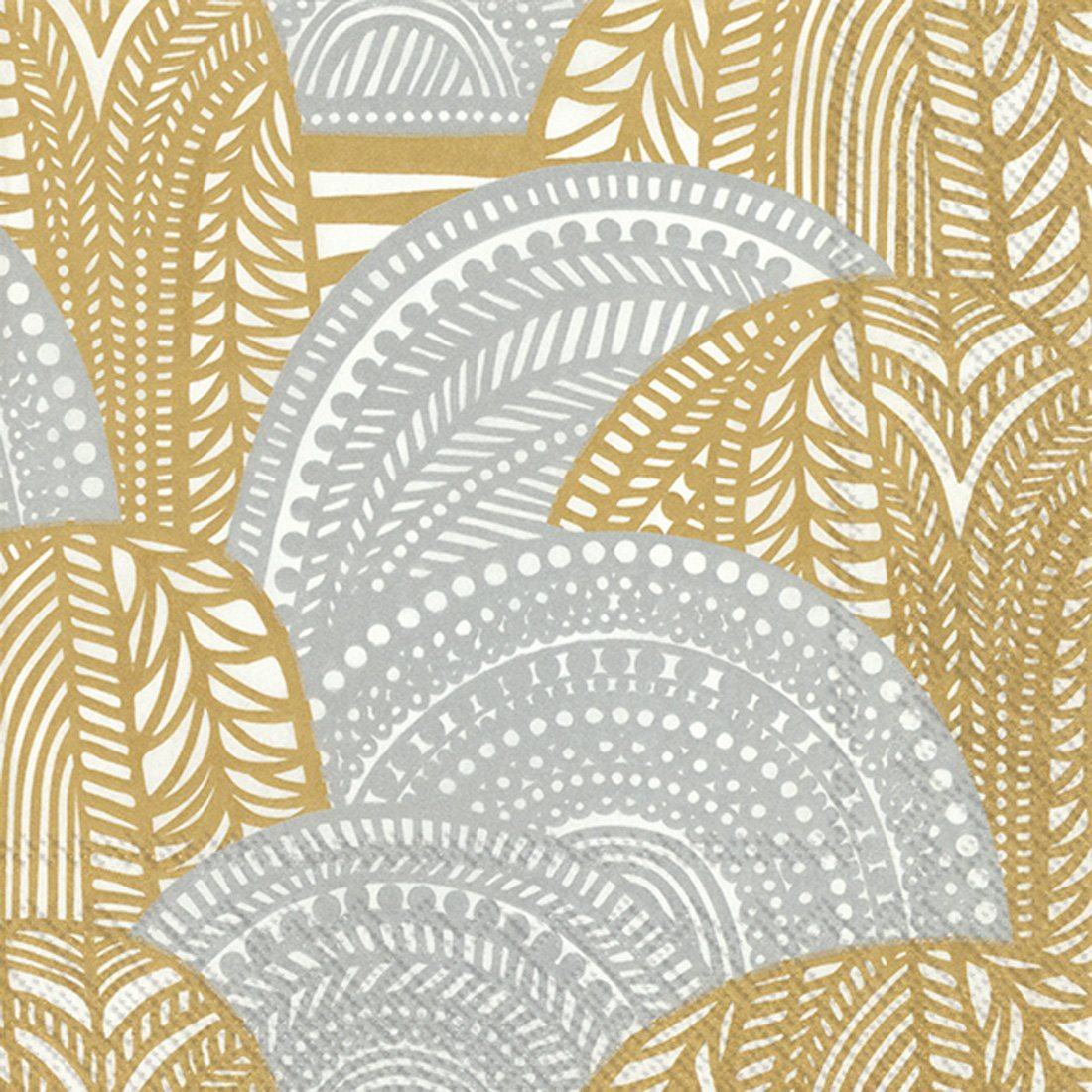 Boston International, Vuorilaakso Gold/Silver Lunch Napkins, - Placewares