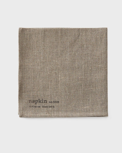 Fog Linen, Japanese Linen Napkin, natural with stamp, - Placewares