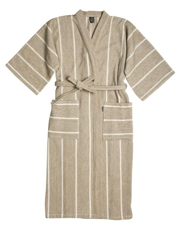 Jokipiin, Finnish Linen Bath Robe, unisex - natural, S- Placewares