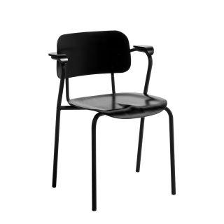 Artek, Lukki Chair, Black - Legs: steel, black matt powder coating Seat and back: beech, black lacquer- Placewares